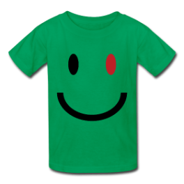 Zombie Smile kids tee by Michael Shirley