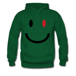 Zombie Smile mens hoodie by Michael Shirley