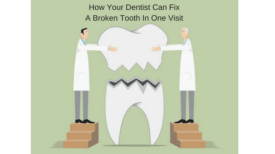How Your Dentist Can Fix A Broken Tooth In One Visit