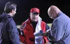 Easton Area High School football coach Steve Shiffert
