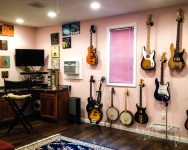 Wet Bar, TV, Guitars...What else do you need?