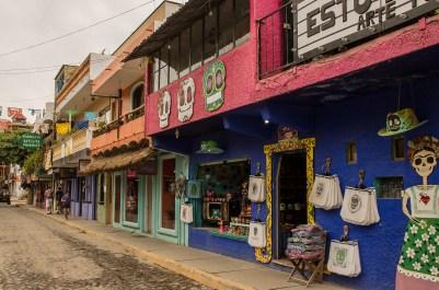 Downtown Sayulita shops