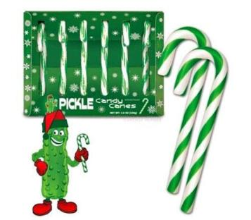 Celebrate National Pickle Day with pickle candy canes