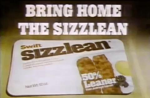 Sizzlean ad