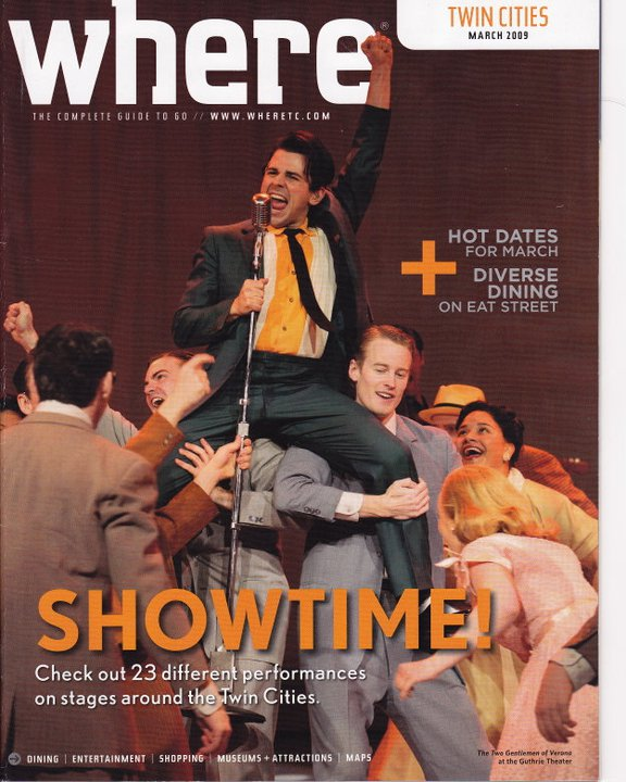 Cover 'Where' magazine, Minneapolis, 2009.