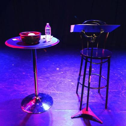 The stage is set for a staged reading. Via @michaelvenske on instagram
