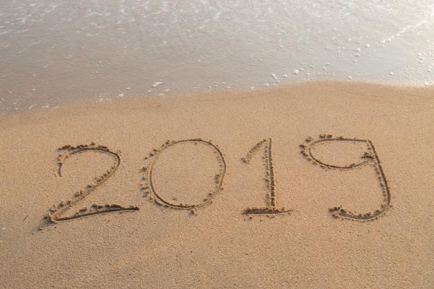 2019 written in sand