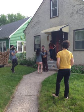 Wide shot of the reunion with A.R. Stevens, Elizabeth Kahn, Amy Hager, Jacob Mullis, and Dom Hanft (not pictured).