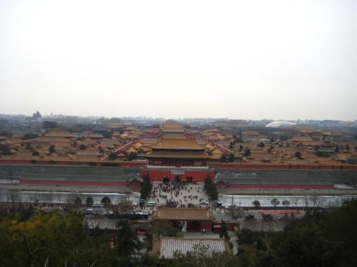 A view of the Forbidden City from Jingshan Park