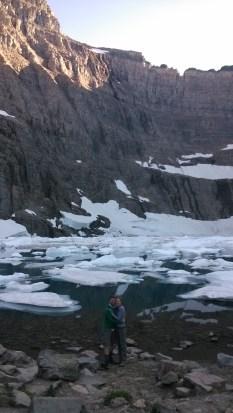 Together at the glacial lake at Glacier National Park
