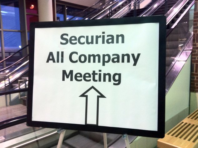 Securian Financial Groups All-Company Meeting, St. Paul, MN. February 2012.