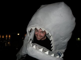 "Show promoting for ""Jaws: The Musical,"" Minneapolis, 2005."