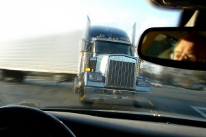 Close Call Crash with a Tractor Trailer Truck