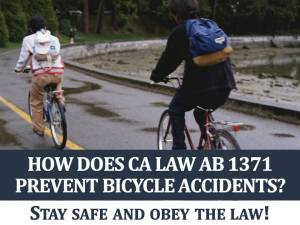 How Does CA Law AB 1371 Prevent Bicycle Accidents?