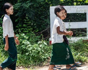 Village School Girls Bagan-1