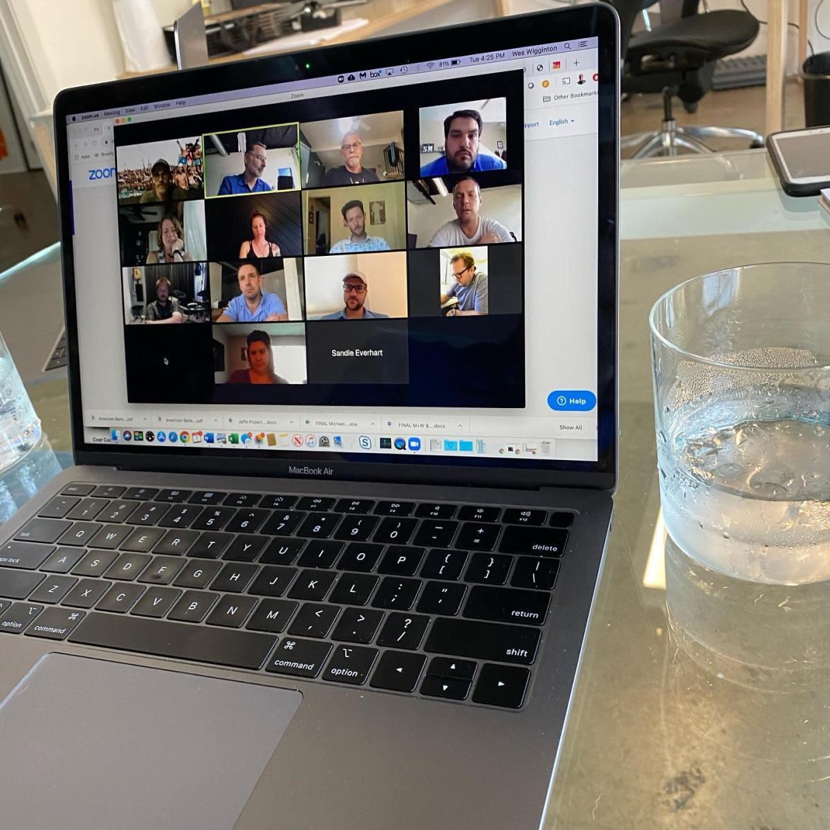 Zoom company meeting as we practice