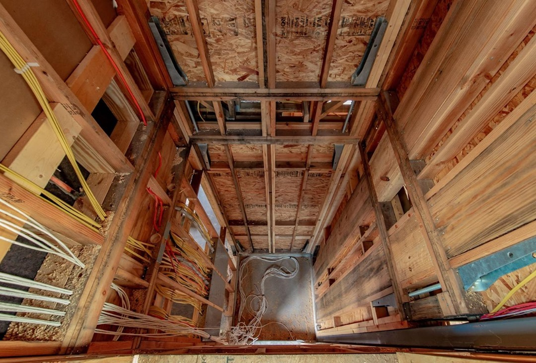 Not many people get to peek into an unfinished elevator shaft. Here's a sneak preview!