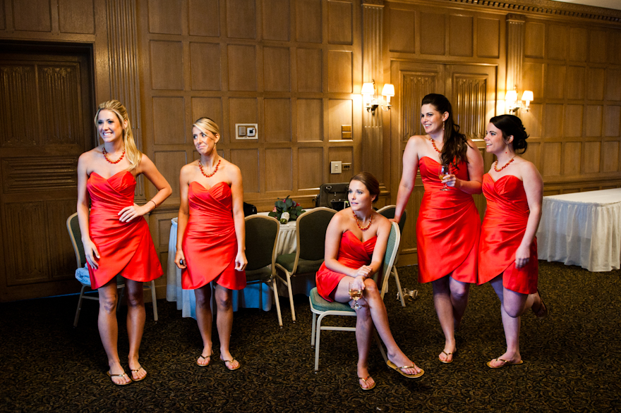 montour country club wedding bridal party
