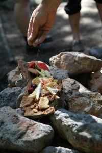 offerings of food and tobacco
