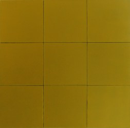 9 golden pieces, 2011, 90x90cm