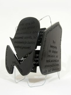 black block, 2012, styrodur, steel, 1/3