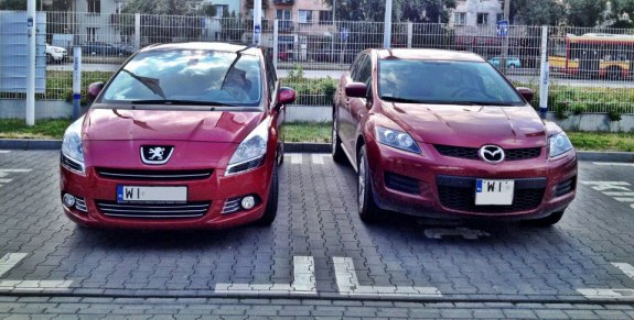 Peugeot 5008 i Mazda CX-7