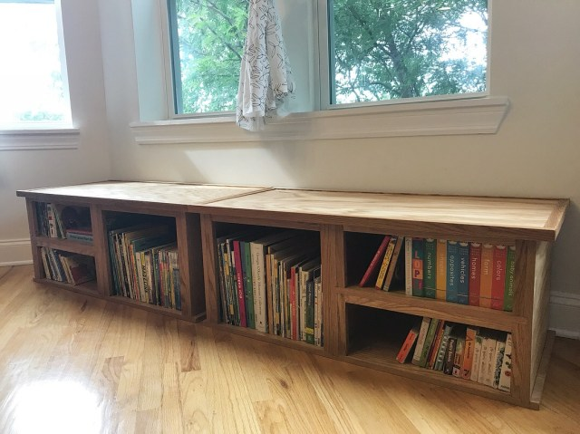 Oak Seating and Storage