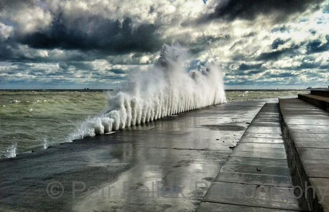 Wave on Lake Michigan