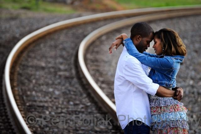 Engagement photo –Railroads