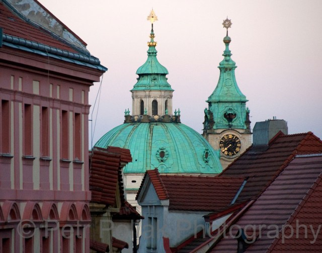 Prague –Roofs and dome