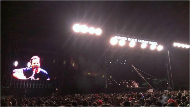 Eddie Vedder en concierto en el Super Bock Super Rock de Portugal.