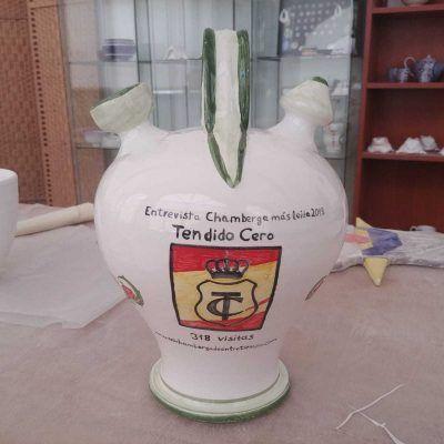 botijo de cerámica de talavera