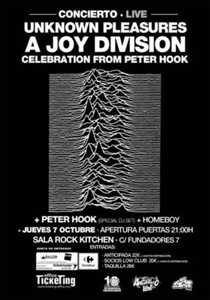 Peter Hook ex bajista de Joy Division y New Order en Madrid