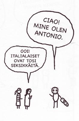 Viñeta en finlandés
