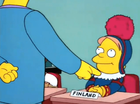 Finlandia en Los Simpson