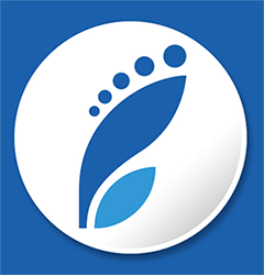 Sinivalkoinen jalanjälki