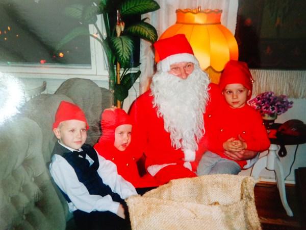 Papá Noel en casa