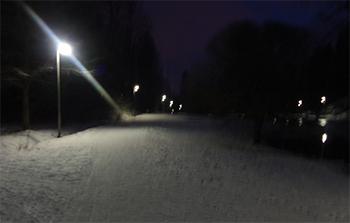 Invierno en el Ankkalampi de Korso