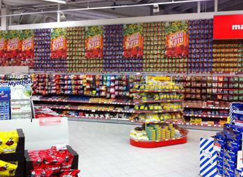 Sección de chucherías en Finlandia