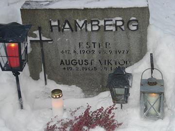 Tumba en un cementerio de Finlandia
