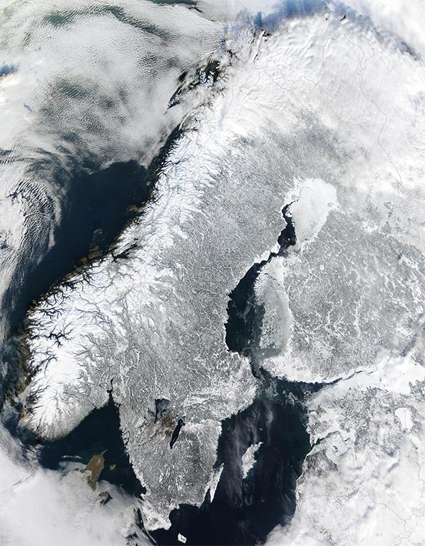 Finlandia desde el espacio