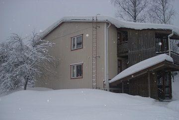 Nieve en el tejado