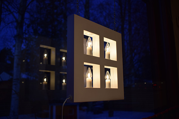 Noche velas Finlandia