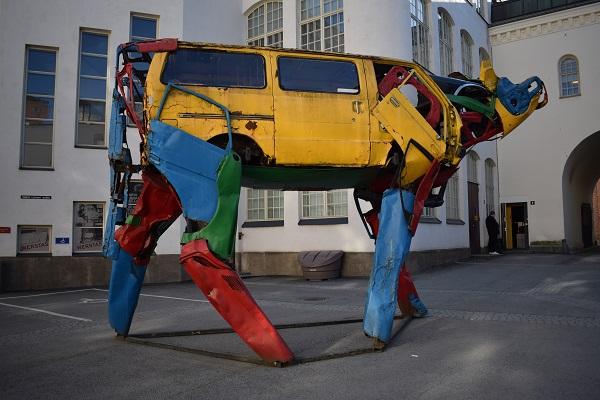 Obra de arte reciclado Tampere