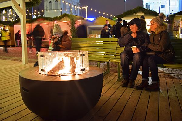 fuente calor Helsinki Navidad