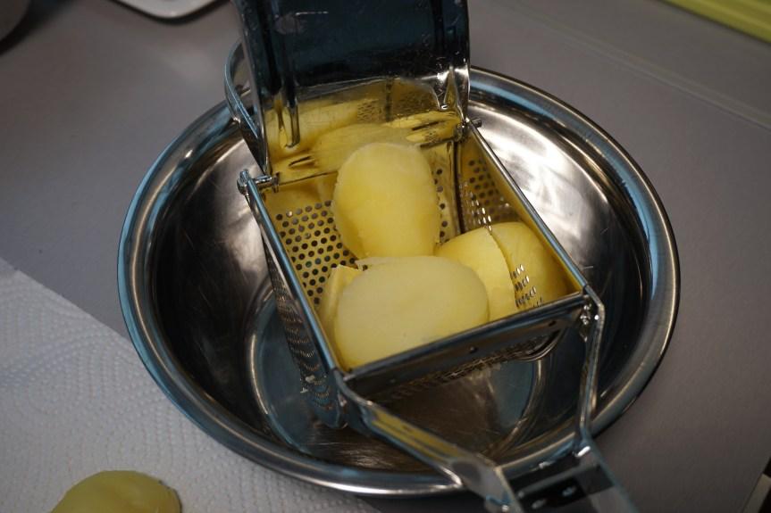 Kartoffeln pressen