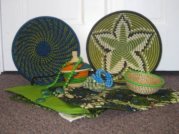 ACT Uganda – Baskets, Jewelry, Sewn and Carved items