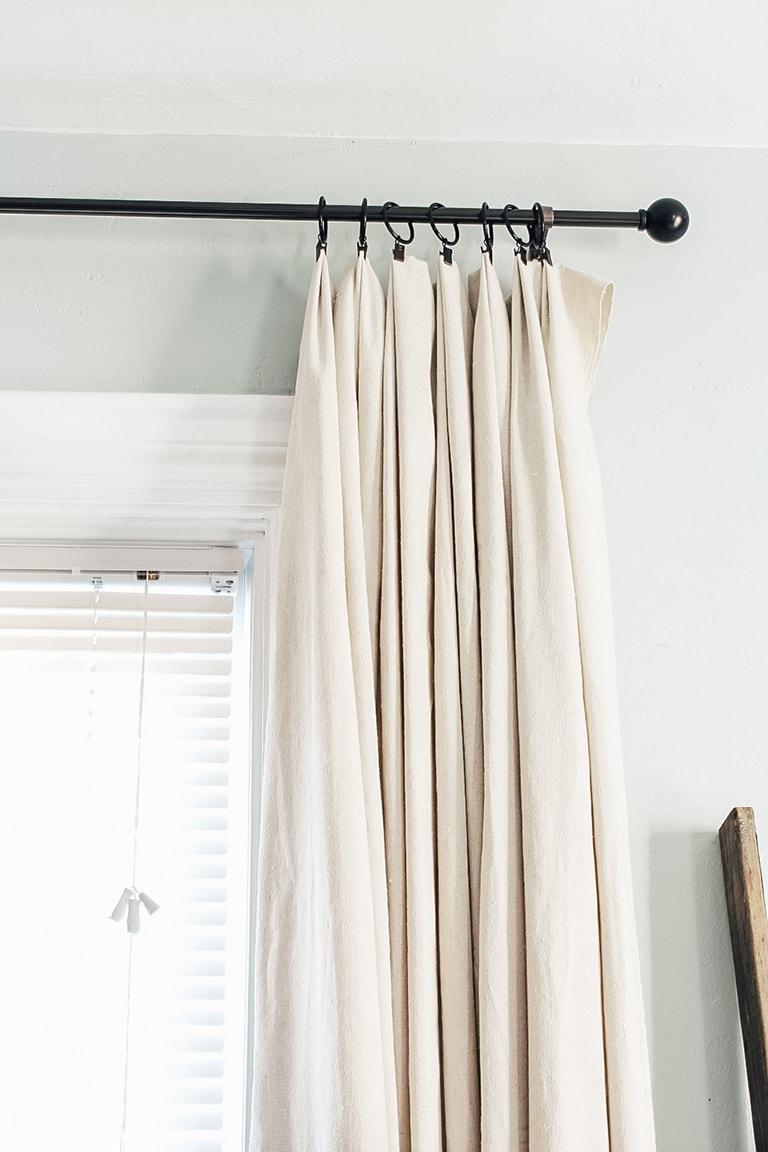 diy drop cloth curtains 2 ways