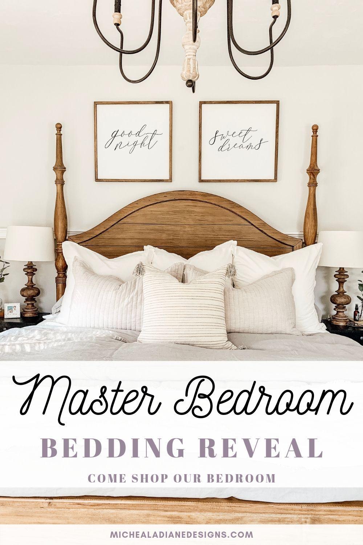master bedroom bedding reveal