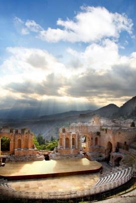 Taormina Sicily View on Etna